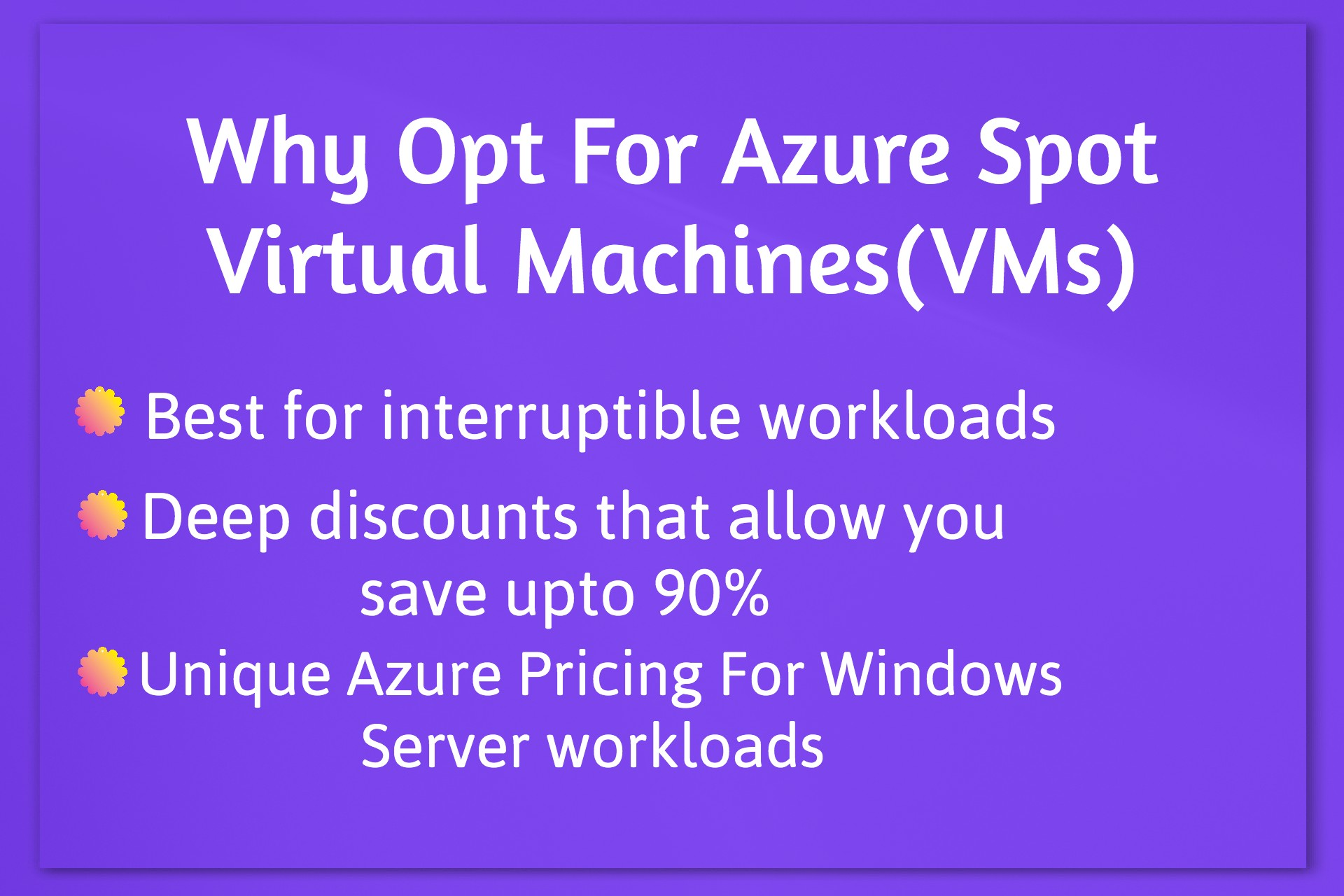 Get deep discounts using Azure Spot Virtual Machines(VMs) for all your interruptible workloads running in the Cloud…