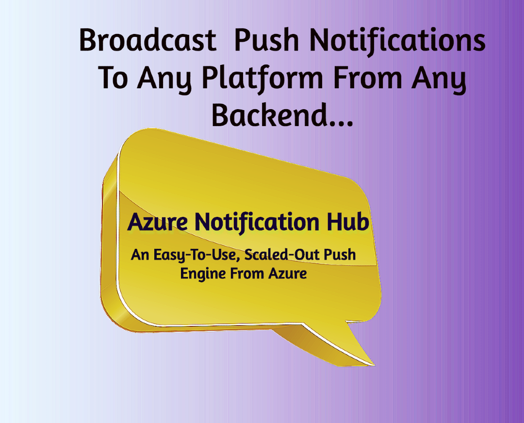 Mobile App Developers | Broadcast Push Notifications To Any Number Of Devices | Azure Notification Hubs.