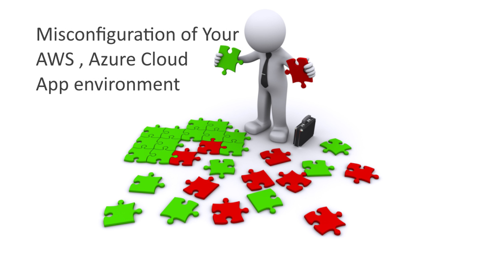 Misconfiguration of AWS , Azure cloud environment